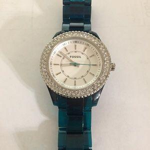 Fossil Women's Stella Crystal Bezel Watch